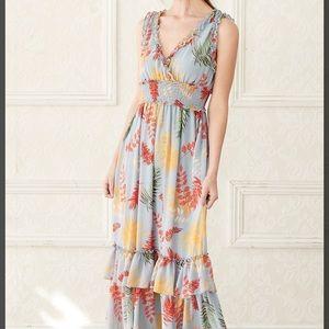 Hazel Ruffled Sleeveless Maxi Dress